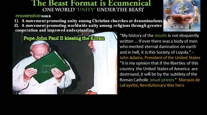 "Ecumenism…One World Religion under guise of ""Unity"""