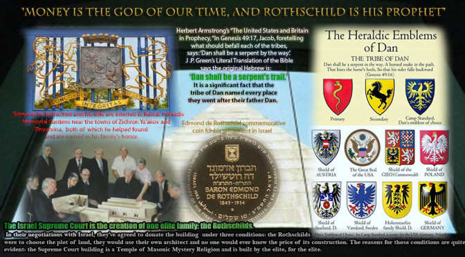 Rothschild built Israel's Supreme Court & its government building, The Knessnet. How many know that Rothschild BUILT the state of Israel and they OWN IT??