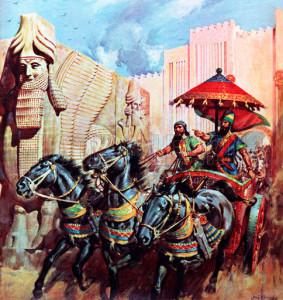 Ancient Assyrians conquered Israel circa 721 B.C.
