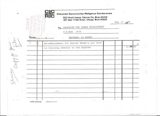 CCHD paid for Barack Obama's Marxist Training at (IAF) Industrial Area Foundation.