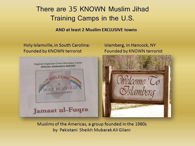 There are at least 35 Jihad Islamaburg Training Camps in U.S.