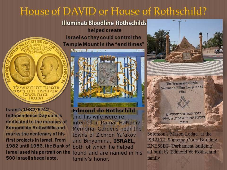 House of David  or House of Rothschild? Rothschild and Zionist State of Israel