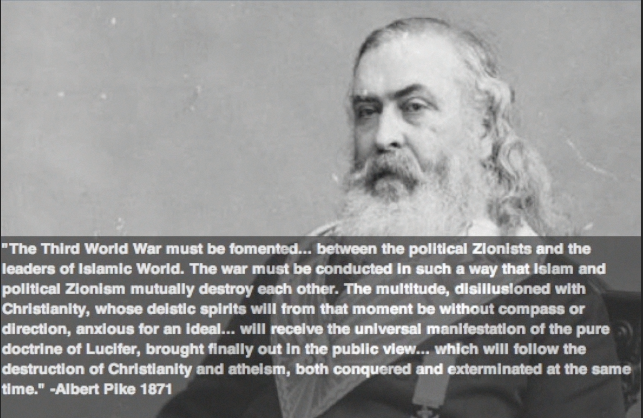 Gen. Albert Pike's letter to Giuseppe Mazzini  dated 15 Aug. 1871 depicting 3 World Wars.