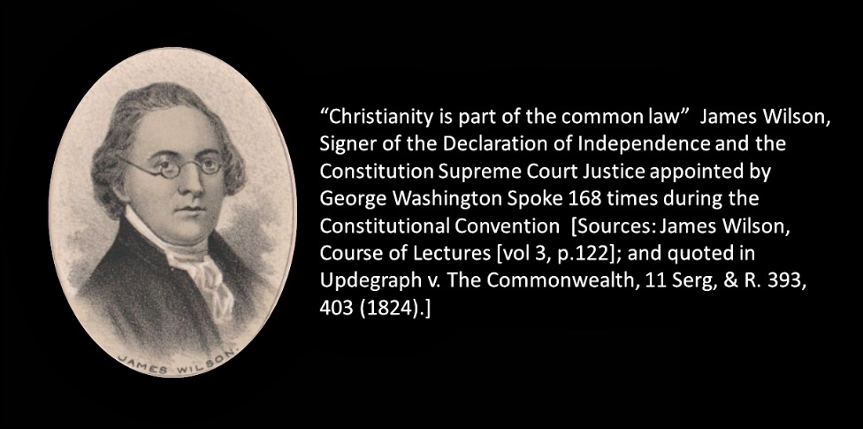 """Christianity is part of The Common Law""."