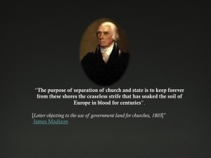 "The Establishment Clause states that Congress shall make no law ""respecting an establishment of religion."""