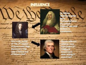 Influence of Sir Blackstone