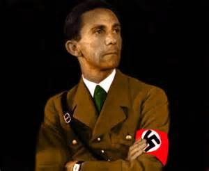 "This thing cannot be judged or estimated by political rules or principles. It is ""Iniquity"" under a political mask. It is not something to be brought before the bar of world history but rather something that has to be dealt with by the judicial administration of each country.""  Dr. Joseph Goebbels speech delivered in Nurnberg 13 Sept 1935 Seventh National Socialist Party"