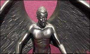 "A giant bronze statue of Prince Charles as a winged hero ""saving the world"" i"