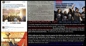 """Whites were asked to leave the #ConcernedStudent1950 meeting on campus. There is NO desire for """"unity"""" by the Community Organizers, aka Outside Agitators. Their desire is division between the races in order to """"mold them to the program of the Communist Party...In America, we will aim for subtle victory."""""""