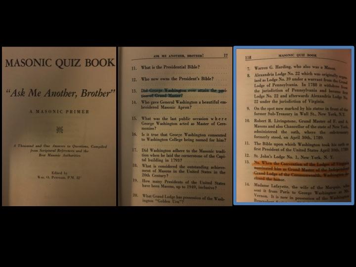 Masonic Q&A Book